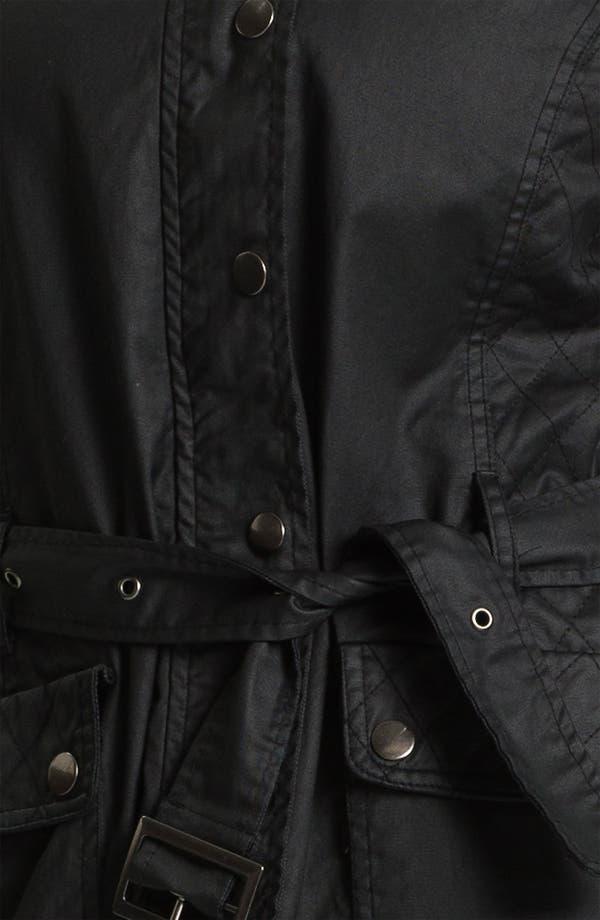 Alternate Image 3  - Evans Waxed Cotton Funnel Neck Jacket (Plus Size)