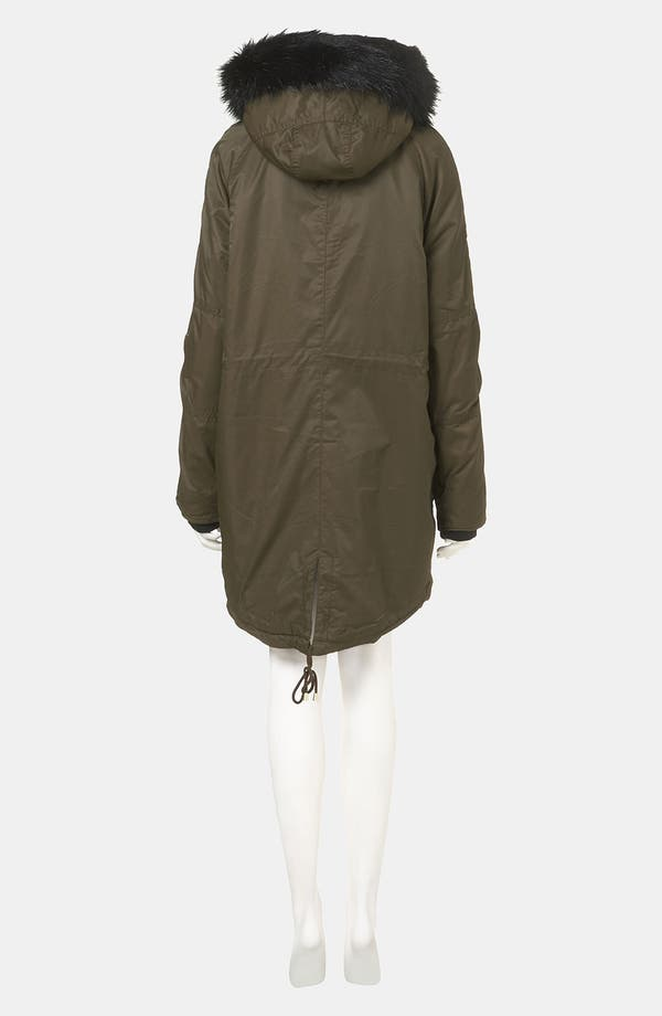 Alternate Image 2  - Topshop Faux Fur Trim Parka