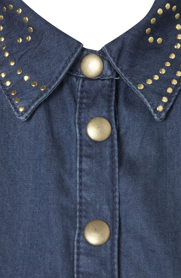 Alternate Image 3  - Topshop Studded Denim Shirtdress