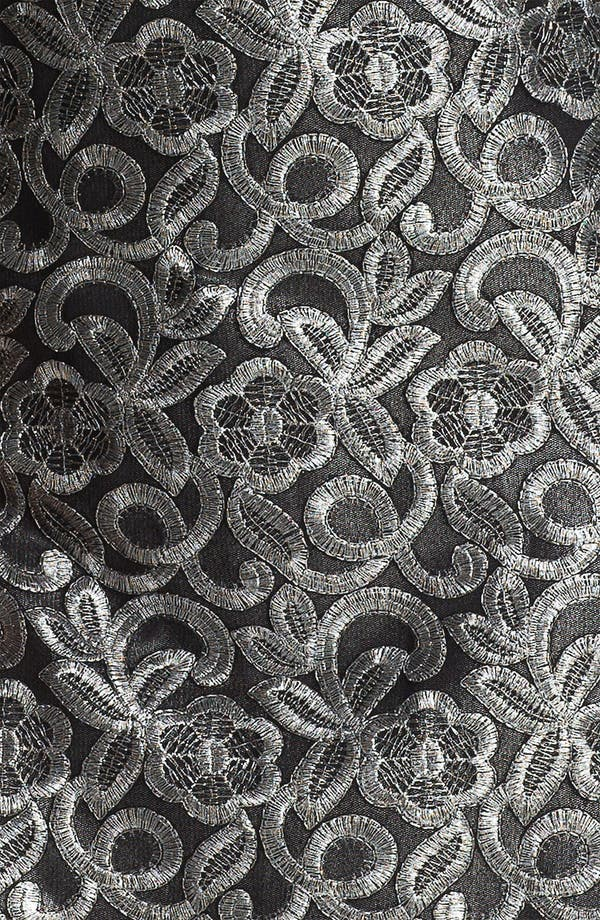 Alternate Image 3  - Donna Ricco Metallic Embroidered Sheath Dress