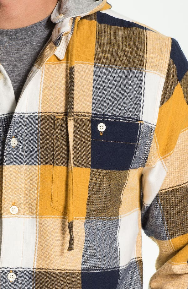 Alternate Image 3  - Threads for Thought Chevron Check Flannel Shirt with Removable Hood