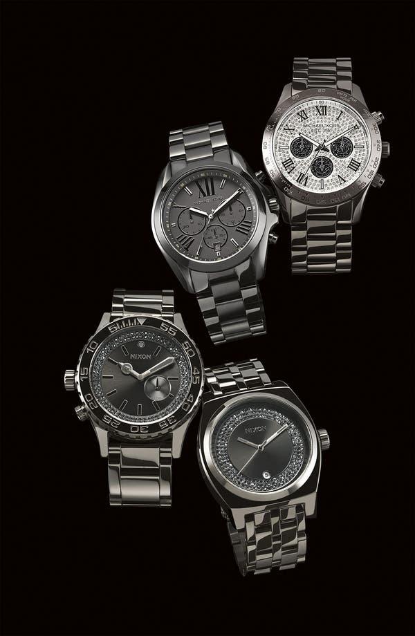 Alternate Image 2  - Nixon 'The Monopoly' Black Crystal Bracelet Watch