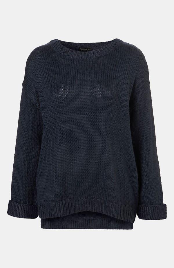Alternate Image 1 Selected - Topshop Zip Hem Sweater