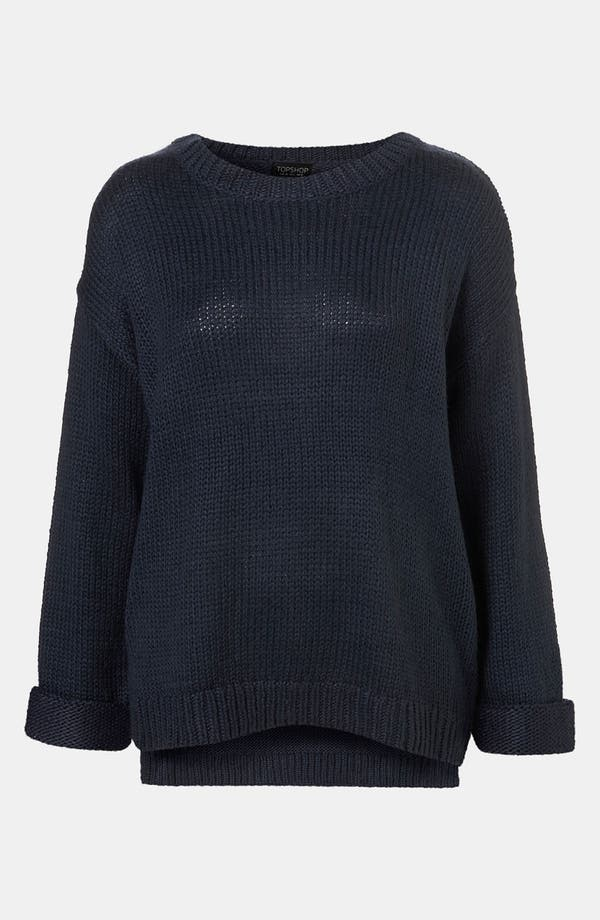 Main Image - Topshop Zip Hem Sweater