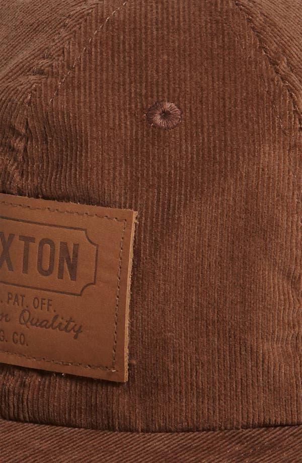 Alternate Image 2  - Brixton 'Clark II' Corduroy Baseball Cap