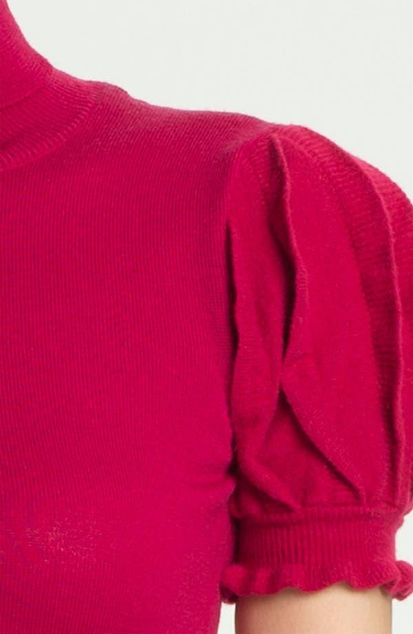 Alternate Image 3  - RED Valentino Pleated Sleeve Turtleneck