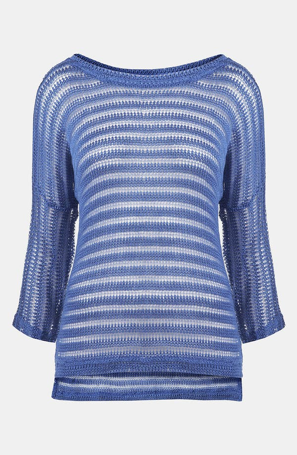 Main Image - Topshop Sheer Stripe Sweater