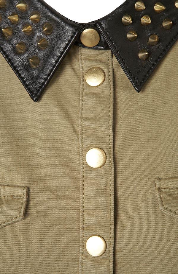 Alternate Image 3  - Topshop Studded Collar Shirtdress