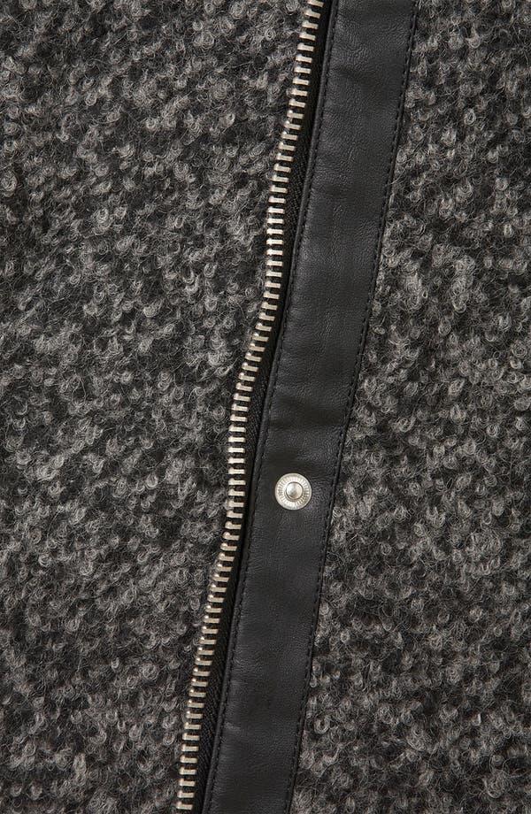 Alternate Image 3  - Topshop Textured Wool Biker Jacket