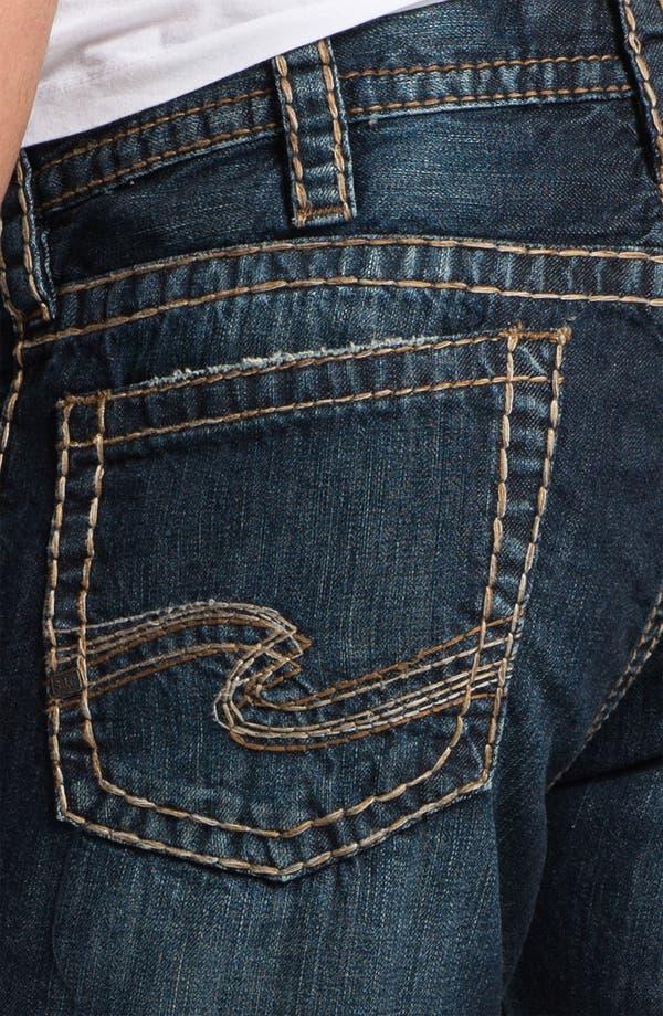 Alternate Image 4  - Silver Jeans Co. 'Nash Heritage' Straight Leg Jeans (Indigo)