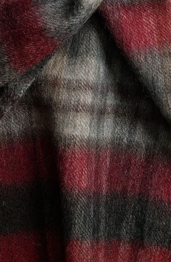 Alternate Image 2  - Nordstrom Wool Plaid Scarf