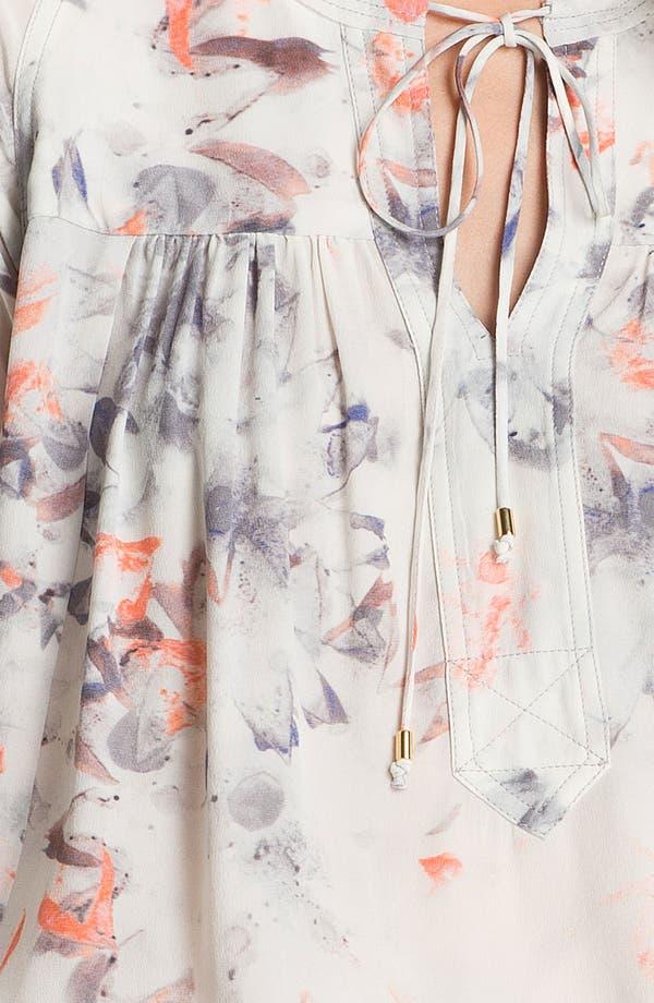 Alternate Image 3  - Rebecca Taylor 'Misty Garden' Silk Blouse