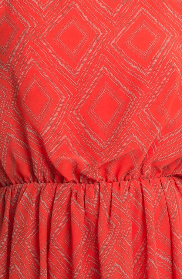 Alternate Image 3  - Soprano High/Low Print Chiffon Dress (Juniors)