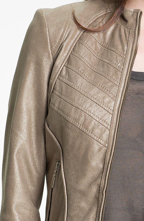 Alternate Image 3  - Bernardo Metallic Leather Scuba Jacket