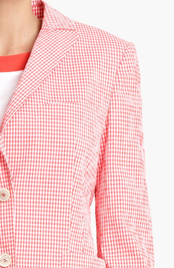 Alternate Image 3  - Piazza Sempione Gingham Two Button Jacket
