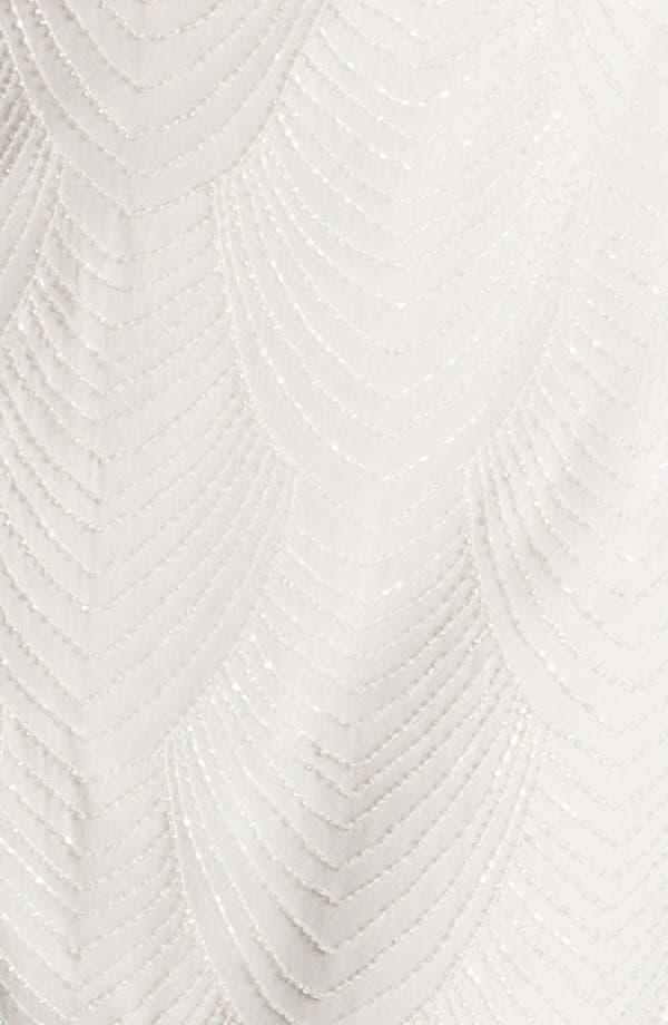 Alternate Image 3  - Pisarro Nights Beaded Overlay Silk Chiffon Dress (Petite)
