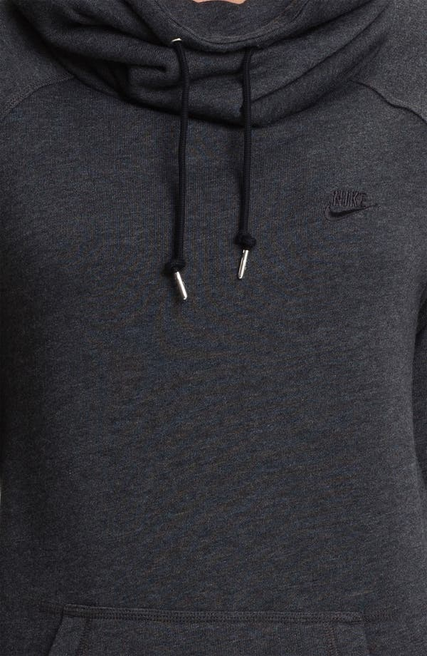 Alternate Image 3  - Nike Long Funnel Neck Top