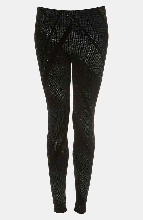Main Image - Topshop 'Galactic Glitter' Leggings