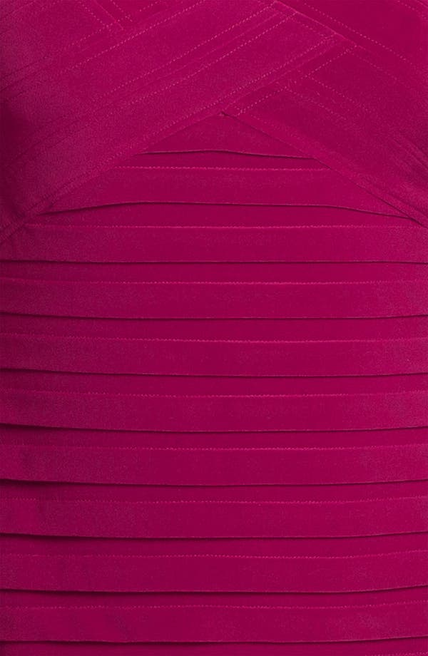 Alternate Image 3  - Adrianna Papell Basket Weave Shutter Pleat Sheath Dress (Plus Size)