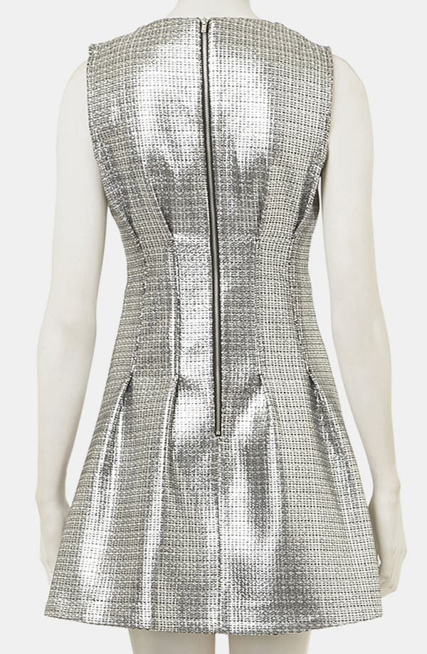 Alternate Image 2  - Topshop Sleeveless Metallic Shift Dress