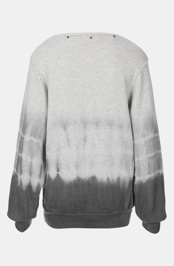 Alternate Image 2  - Topshop Studded Tie Dye Sweatshirt