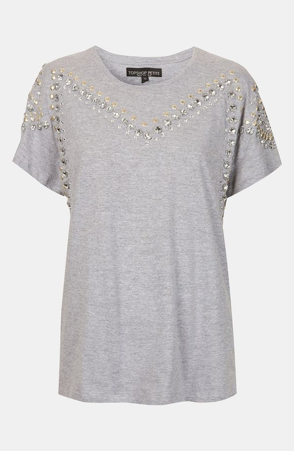 Alternate Image 1 Selected - Topshop Embellished Tee (Petite)