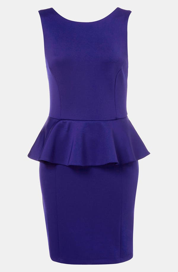 Alternate Image 1 Selected - Topshop Peplum Dress