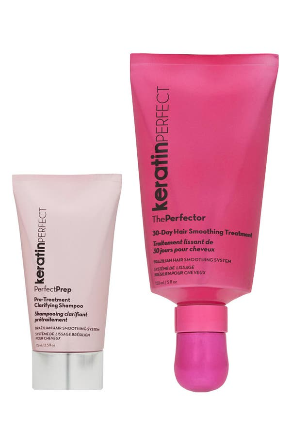 Main Image - KeratinPerfect 'PerfectTreatment' 30-Day Brazilian Hair Smoothing System (Duo Pack)
