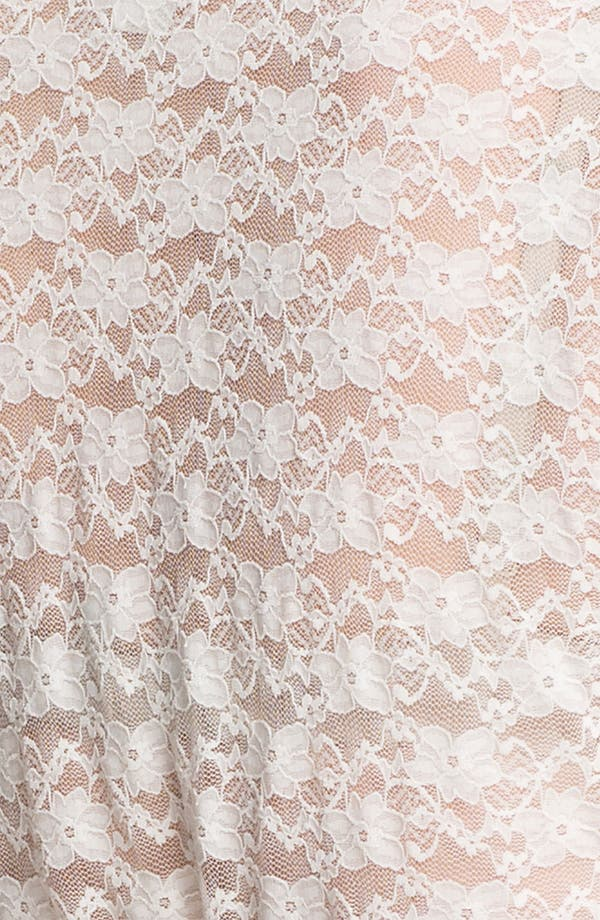 Alternate Image 3  - In Bloom by Jonquil Lace Bridal Wrap (Plus Size)