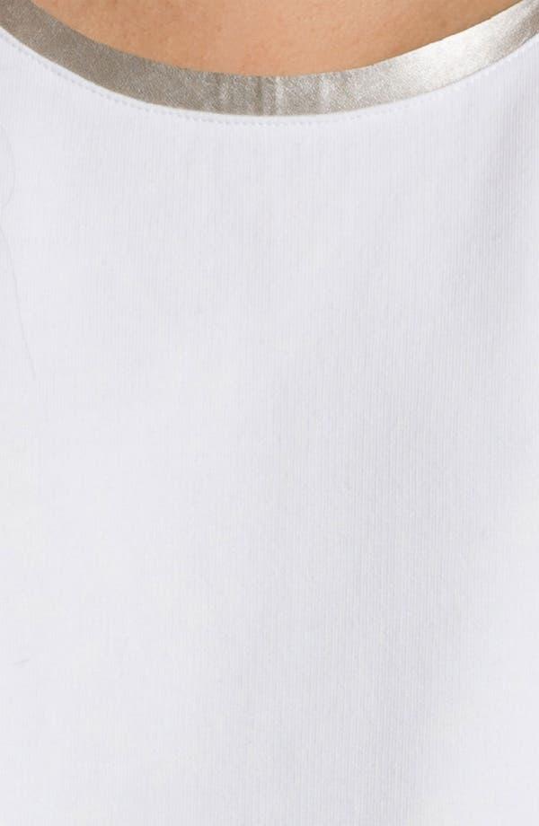 Alternate Image 3  - Trouvé Metallic Trim Mixed Media Sweatshirt