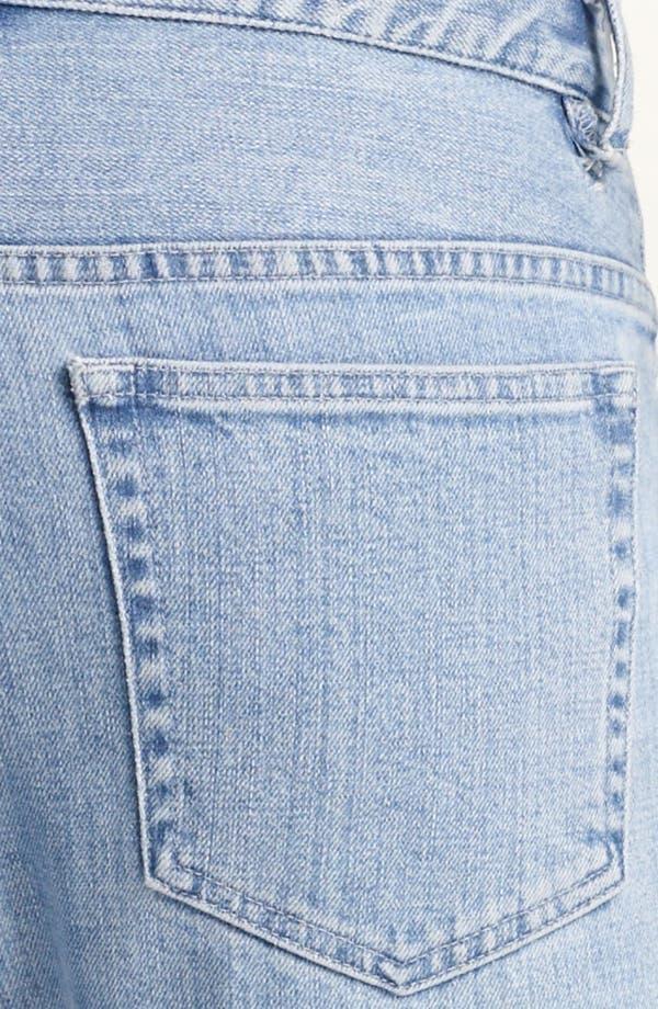 Alternate Image 4  - A.P.C. 'Petit New Standard' Slim Straight Leg Jeans (Light Blue)