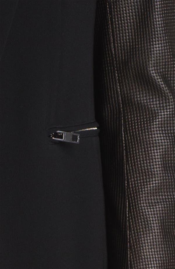 Alternate Image 5  - rag & bone Leather Sleeve Moto Blazer
