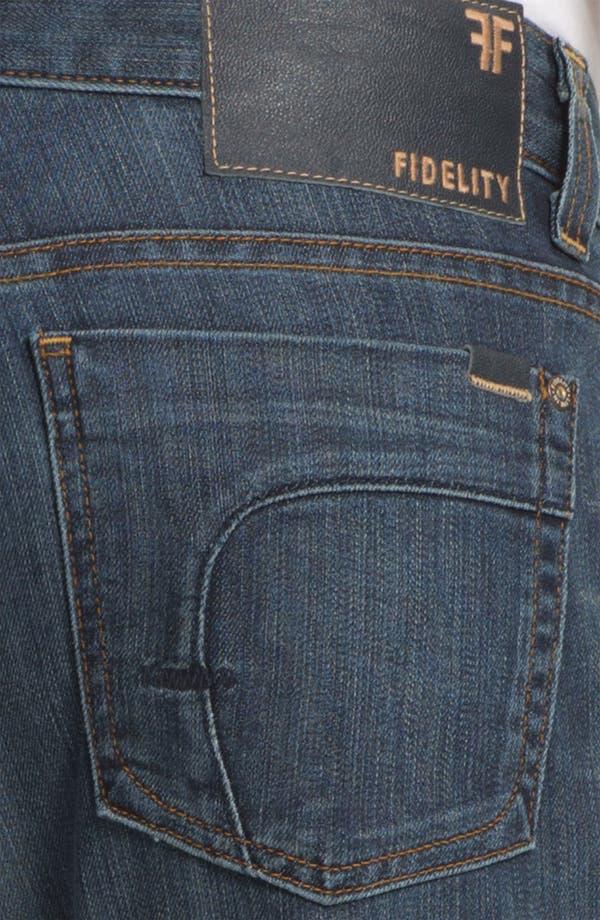 Alternate Image 4  - Fidelity Denim '5011' Straight Leg Jeans (Trigger Medium)