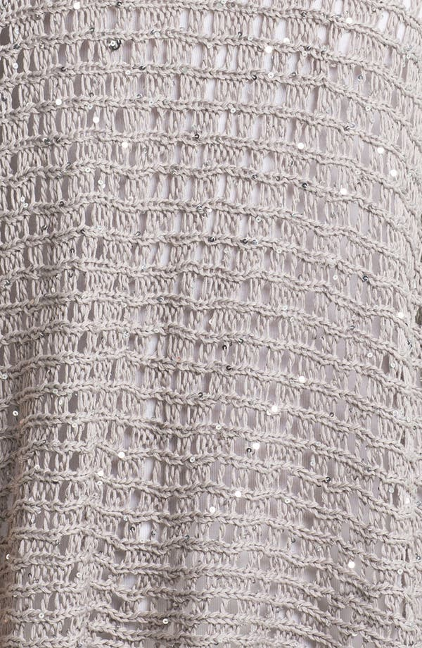 Alternate Image 3  - Eileen Fisher Sequin Open Stitch Sweater