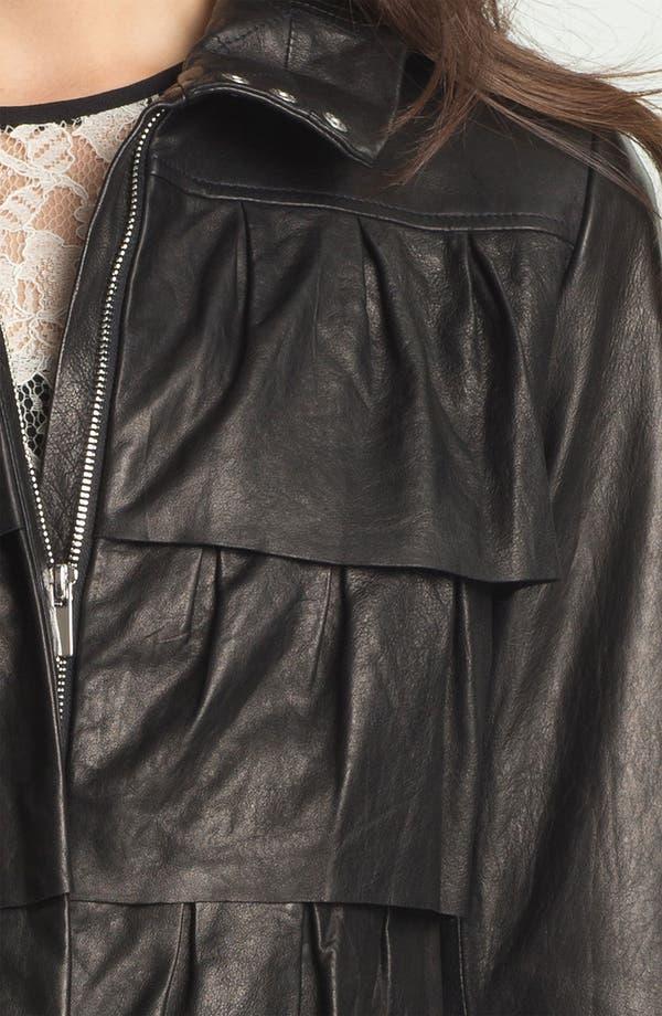 Alternate Image 3  - Diane von Furstenberg 'Cupcake' Leather Bomber Jacket