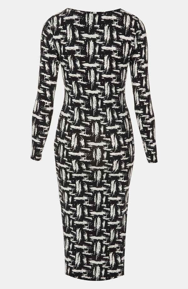 Alternate Image 2  - Topshop Scratch Graffiti Midi Dress