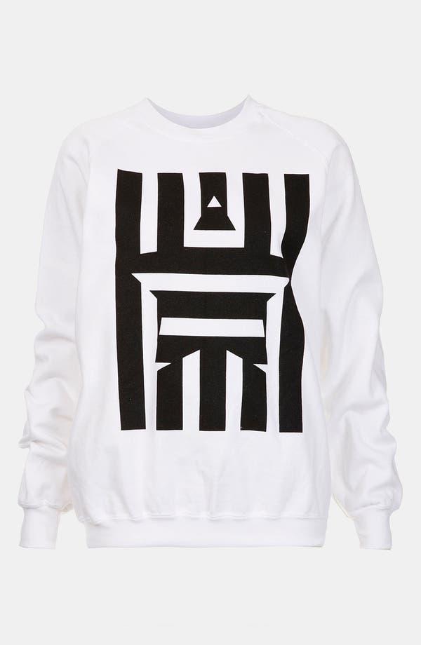 Main Image - Topshop Star Graphic Sweatshirt