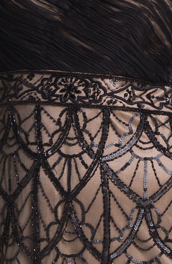 Alternate Image 3  - Sue Wong Embellished One Shoulder Mesh Dress