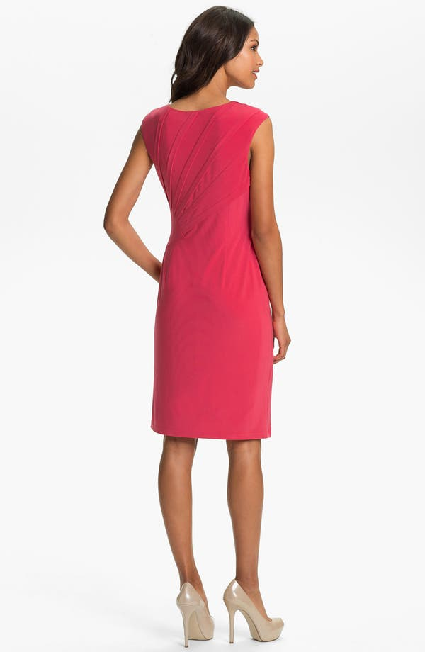 Alternate Image 2  - Adrianna Papell Seamed Jersey Sheath Dress