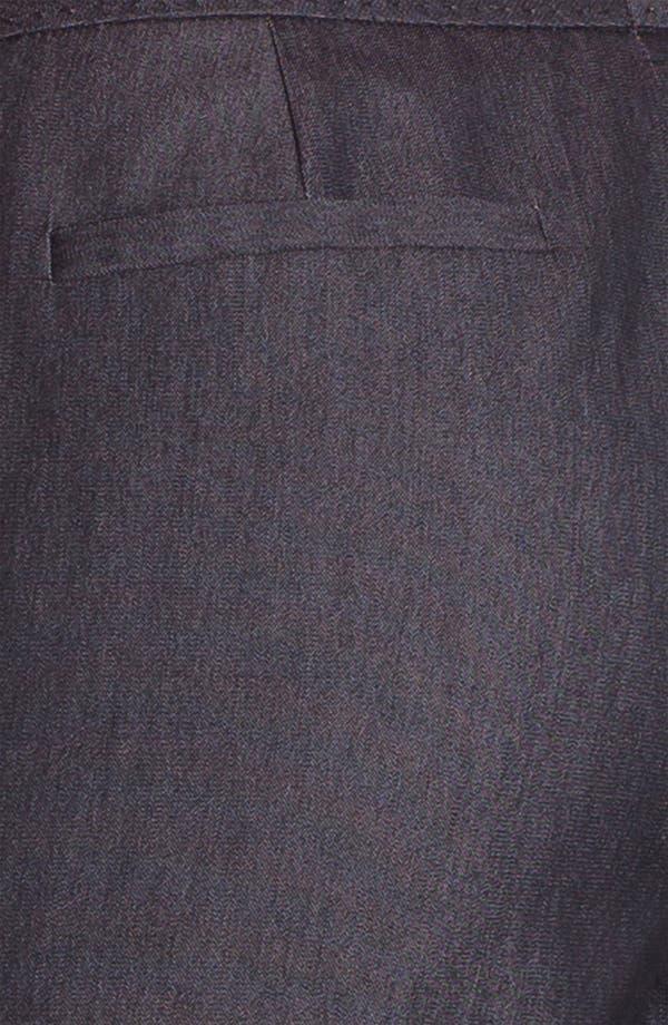 Alternate Image 3  - Halogen® 'Taylor' Curvy Fit Black Denim Pants