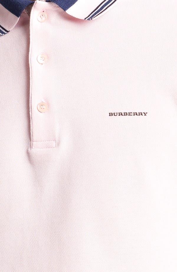 Alternate Image 3  - Burberry London 'Adler' Check Placket Cotton Piqué Polo