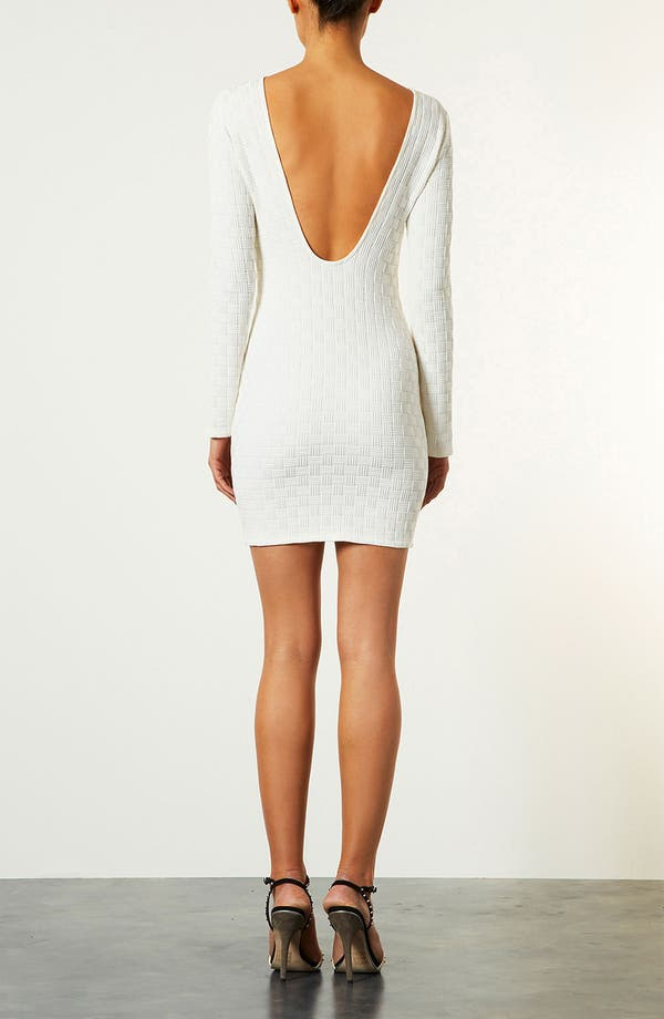 Alternate Image 2  - Topshop Basket Weave Body-Con Dress