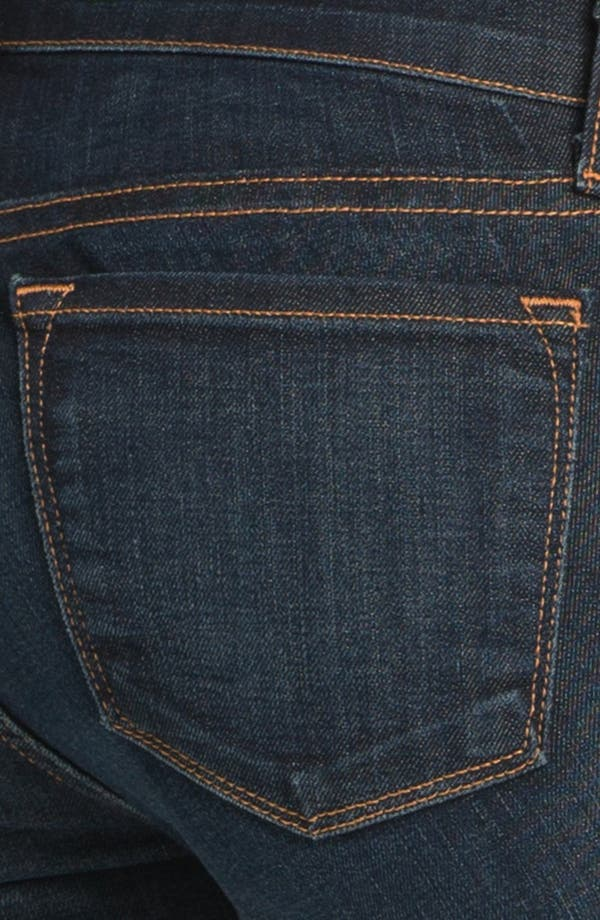 Alternate Image 3  - J Brand Maternity Straight Leg Stretch Jeans (Dark Vintage)