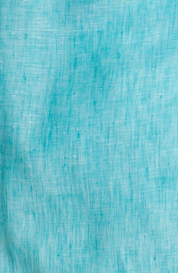 Alternate Image 3  - Foxcroft Linen Shaped Shirt (Plus Size)