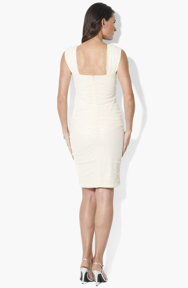 Alternate Image 2  - Lauren Ralph Lauren Sequin Mesh Sheath Dress