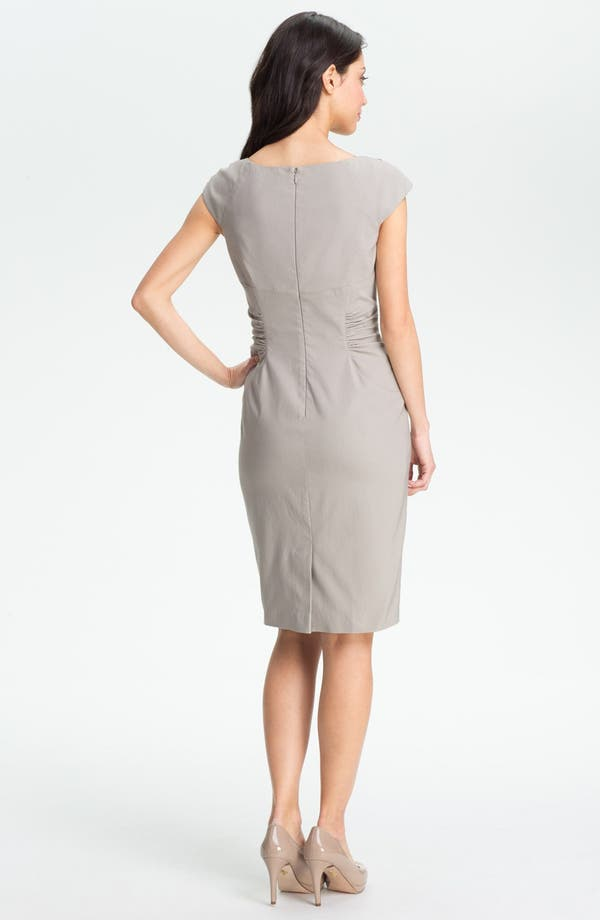 Alternate Image 4  - Adrianna Papell Embellished Ruched Sheath Dress (Petite)