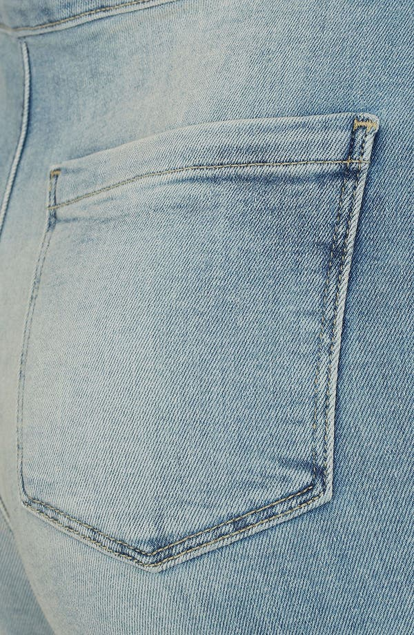 Alternate Image 3  - Topshop Moto 'Francis' Denim Hot Pants