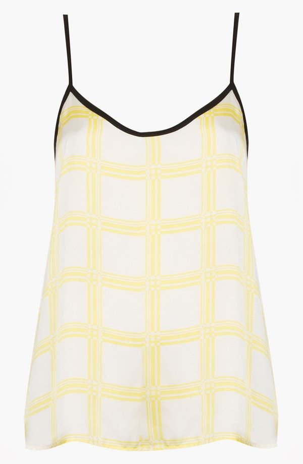 Alternate Image 1 Selected - Topshop Check & Chevron Print Camisole