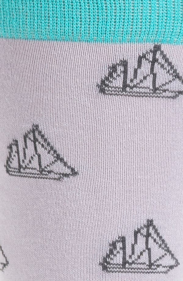 Alternate Image 2  - hook + ALBERT Sailboat Socks