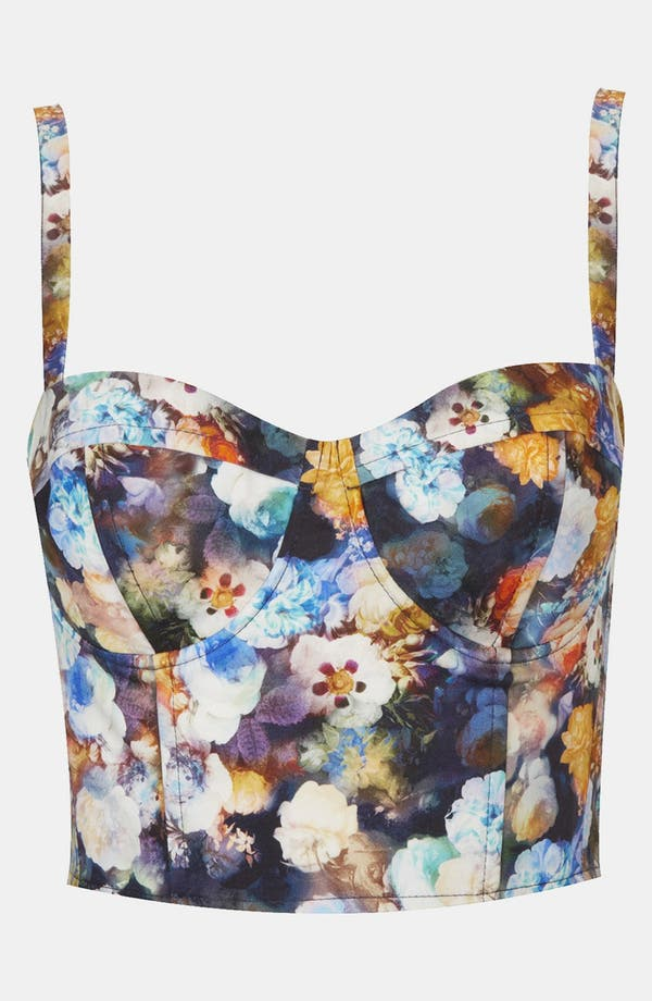 Alternate Image 1 Selected - Topshop 'Mystical Flower Crest' Corset
